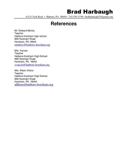 References Resume Exle by Reference Resume Template Gfyork