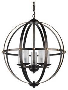 wine sphere chandelier clear antique bronze globe sphere cage chandelier 5 light