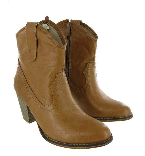 8 Fabulous Boots by Fabulous Cowboy Ankle Slip On Zip Ankle Heels Western