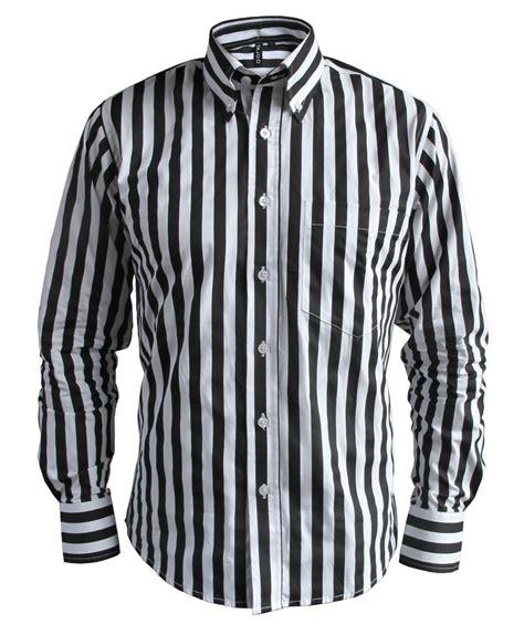 black and white striped l mens candy stripe black white button down collar tailored
