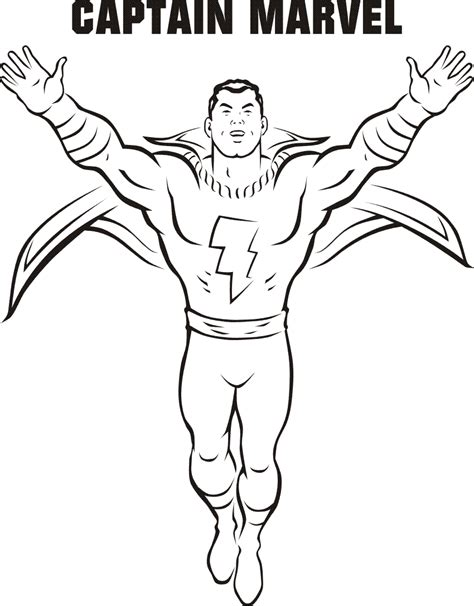 free captain marvel coloring pages