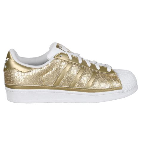 Sneaker Adidas Gold adidas shoe wmns superstar low sneaker gold white 120621