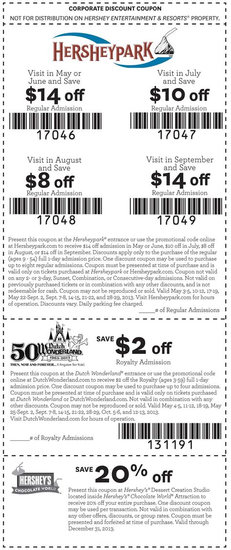 hershey park coupon