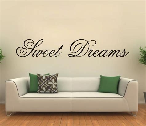 inspirational wall decal bedroom wall decal bedroom modern wall sticker sweet dreams vinyl art mural wall