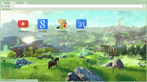 google chrome themes zelda zelda wii u chrome theme themebeta