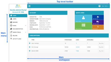 themes application com overview of nap s user interface nerdio help center