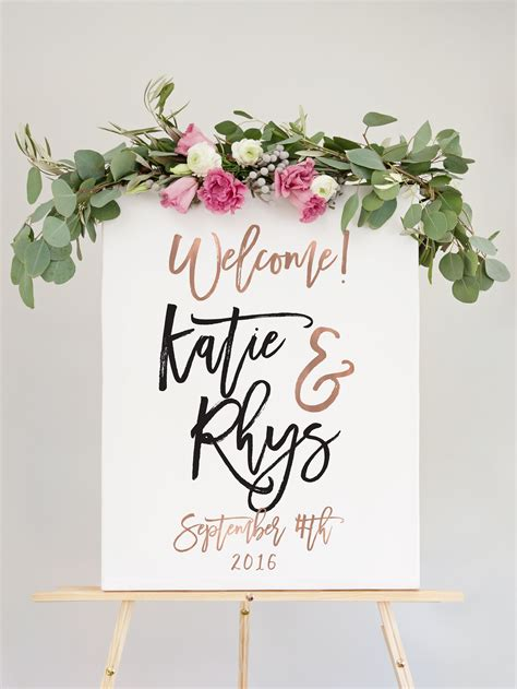Wedding Welcome Sign by Our Wedding Welcome Sign Is The Way To Welcome