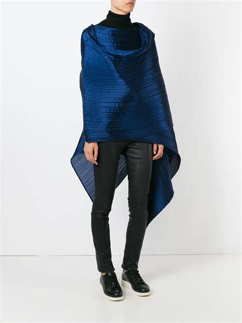 wrap around lyst pleats please issey miyake large wrap around scarf