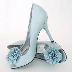 Tiffany blue heels with frilly flower toe martinex valero