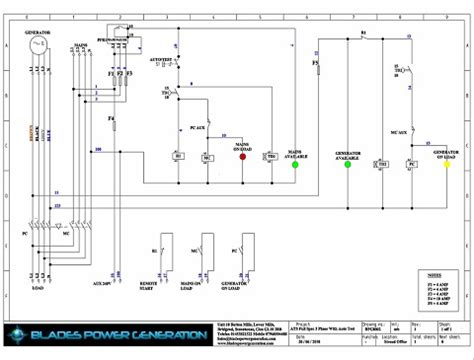 electrical drawing | automatic transfer switches | manual