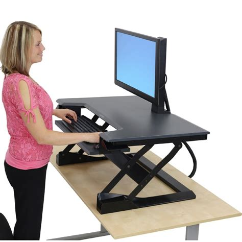 raised desk for standing finding the best standing desk for your office