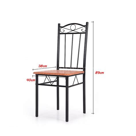 Steel Dining Table And Chairs 5 Dining Set Wood Metal Frame Table And 4 Chairs Kitchen Restaurant O3d5 Ebay