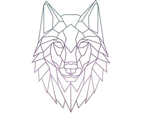 """""""geometric wolf colorful"""" by mvleo100 
