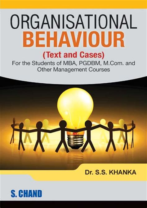 Organizational Behaviour Book For Mba by Organisational Behaviour By S S Khanka