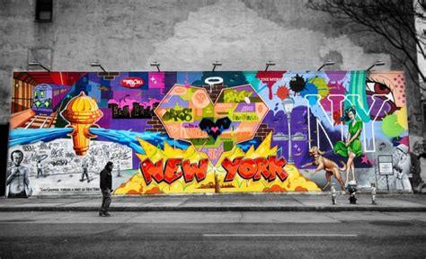 houston bowery wall mural  manhattan  york city