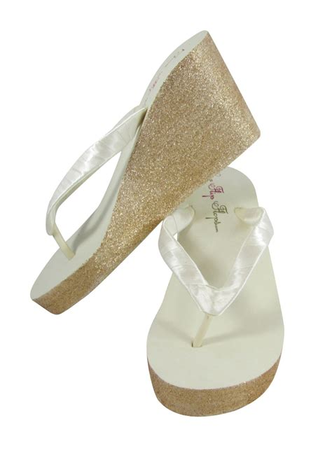 Design Your Own Sandals by Design Your Own Glitter Wedge Flip Flops And Similar Items