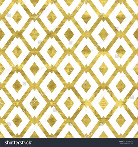 pattern white and gold white gold pattern abstract geometric modern stock vector