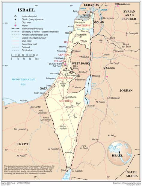 Printable Map Israel | maps of israel geolounge