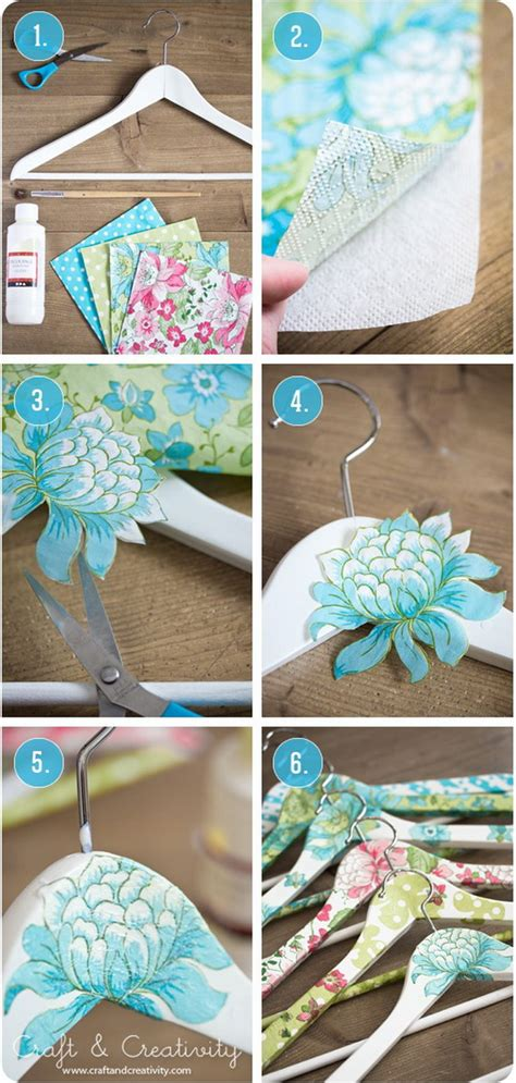 decoupage hanger tutorial 30 diy ideas tutorials to get shabby chic style