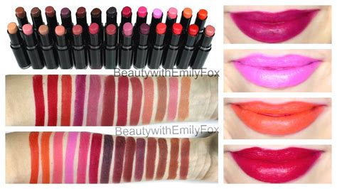 N Megalast Lip Color E919b V It Up n megalast lipstick lip swatches all the shades