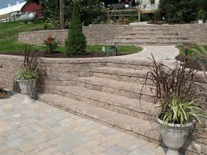 Landscape Block Stairs by Creative Outdoor Stairs Options Using Allan Block