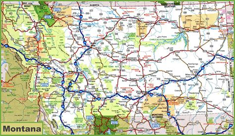 usa montana map montana road map