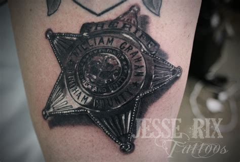 police badge tattoo sheriff badge by jesserix on deviantart