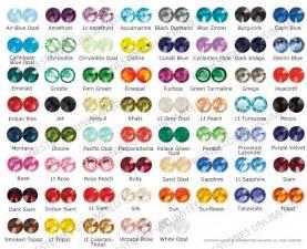 rhinestone colors swarovski rhinestone flat back color chart rhinestones