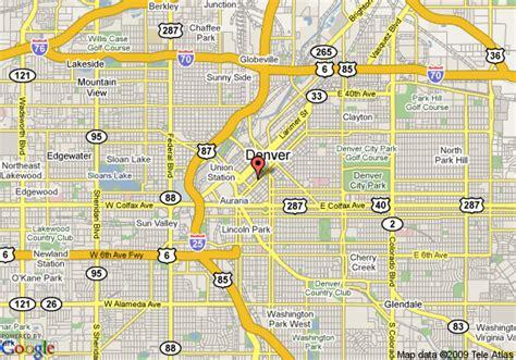 denver city map map of residence inn denver city center denver