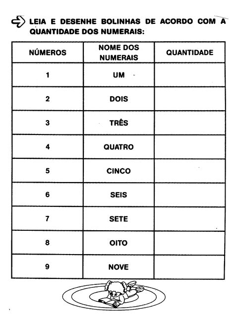Atividades com numerais para alfabetização - Só Atividades