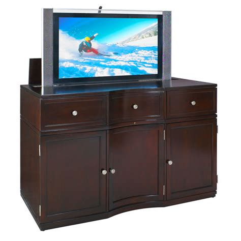 Flat Screen Tv Lift Cabinet by Entertainment Centers Metropolitan Flat Screen Tv Cabinet