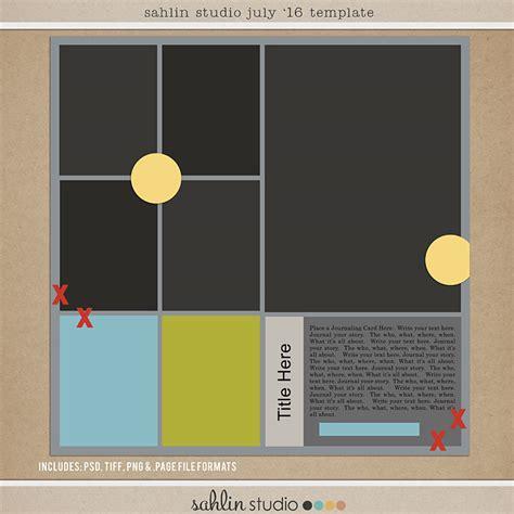 free digital scrapbooking template sketch july 2016