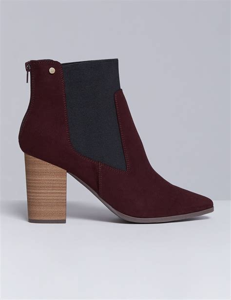 Wedges Boot Style Marun bryant s faux suede ankle boot with block heel 11w cabernet shop at ebates