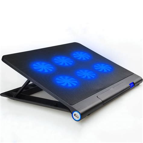 cooling mat laptop cooler aicheson ultra slim laptop cooling pad chill mat with 6 ebay