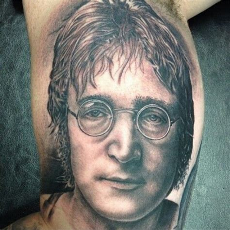 dr ink tattoo lennon portrait by amir marziparo dr ink tattoos