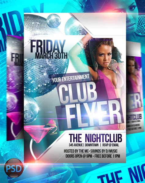 free club templates 18 club psd background images free psd club flyer