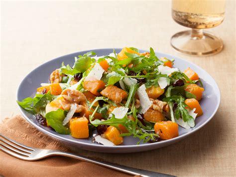ina garten salads roasted butternut squash salad with warm cider vinaigrette recipe ina garten food network