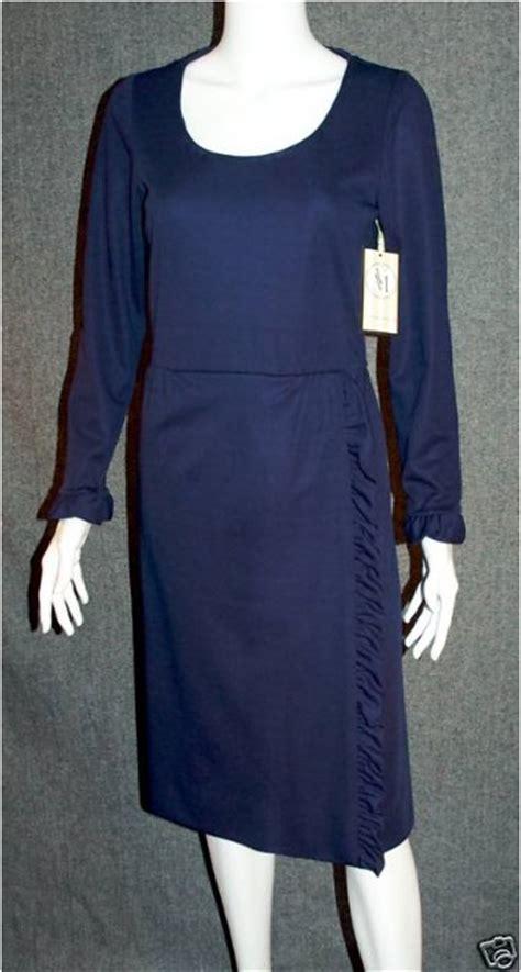 Dress Alika Navy Ori Glz vintage 1960 i magnin navy blue ruffle classic dress for sale antiques classifieds