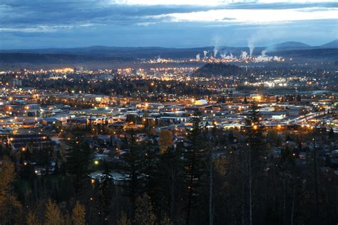prince george bc just before sunrise in prince george
