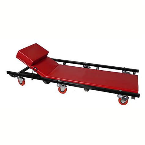 reclining creeper workbenches safety storage sayco canbuilt mfg
