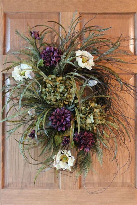 Beautiful Front Door Wreaths Front Door Wreath Beautiful Twig Wreath With Hydrangeas Poppies