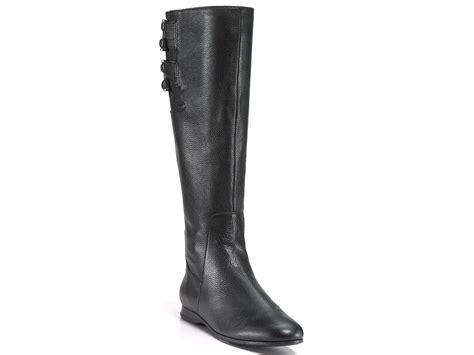 enzo angiolini boots zapata flat in black black leather