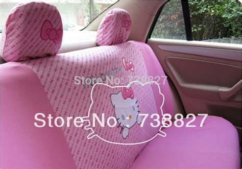 1 Set Cover Hello Pink fedex or ems price10pcs set pink hello seat cover