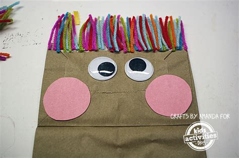 How To Make A Paper Bag Puppet Of A Person - classic craft paper bag puppets