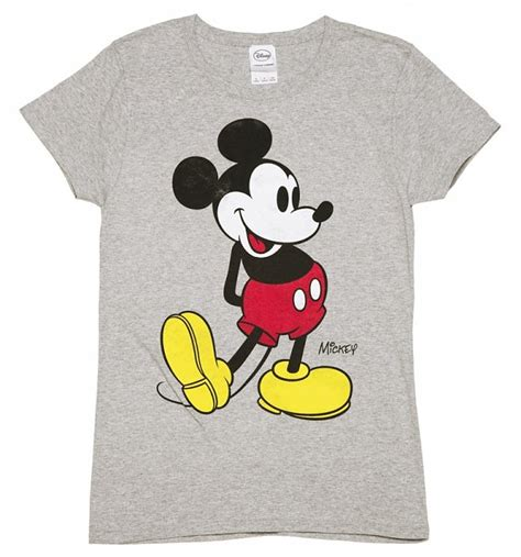 Mickey Mouse T Shirt official s grey marl disney classic mickey mouse t