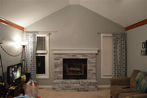 whitewashed brick fireplace to paint or not to paint no longer a question