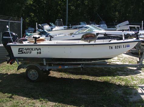 carolina skiff boat trailer 14 carolina skiff w mercury 25 4 stroke stow away marine