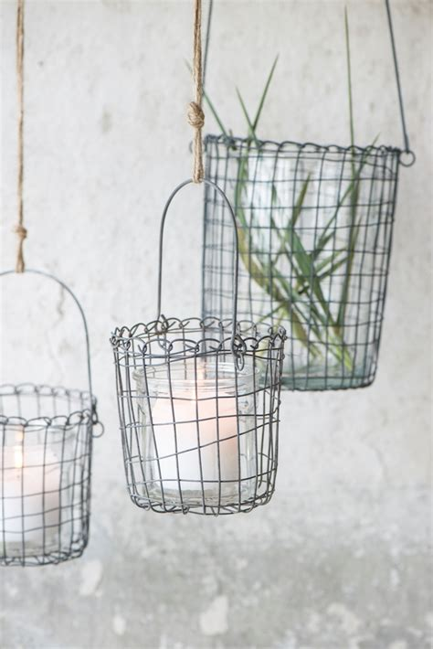 Wire Basket Planter by Small Metal Wire Hanging Basket Planter By Ib