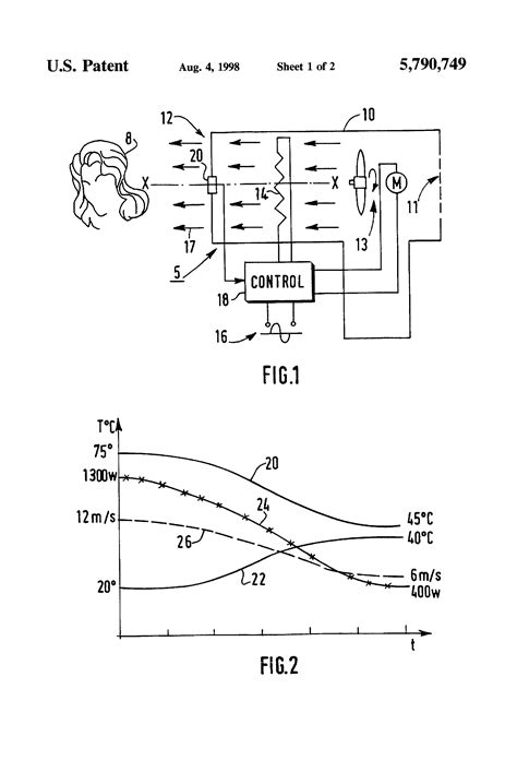 Hair Dryer Air Flow Rate patent us5790749 hair dryer with controlled air flow patents