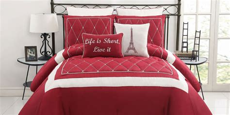red and white bedroom furniture red and white comforter ideas homesfeed